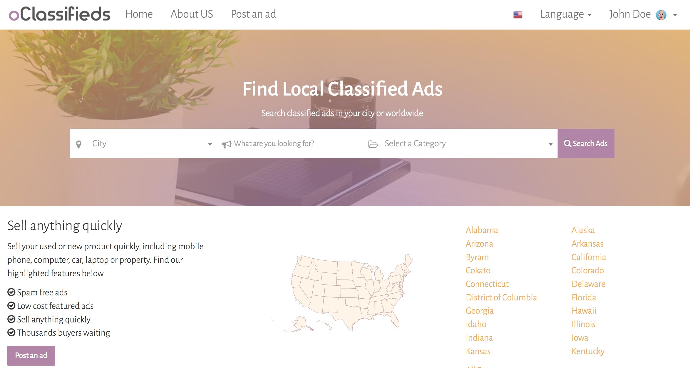 oClassifieds - PHP and Laravel Geo Classified ads cms - Themeqx