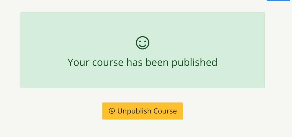 publish course teachify lms