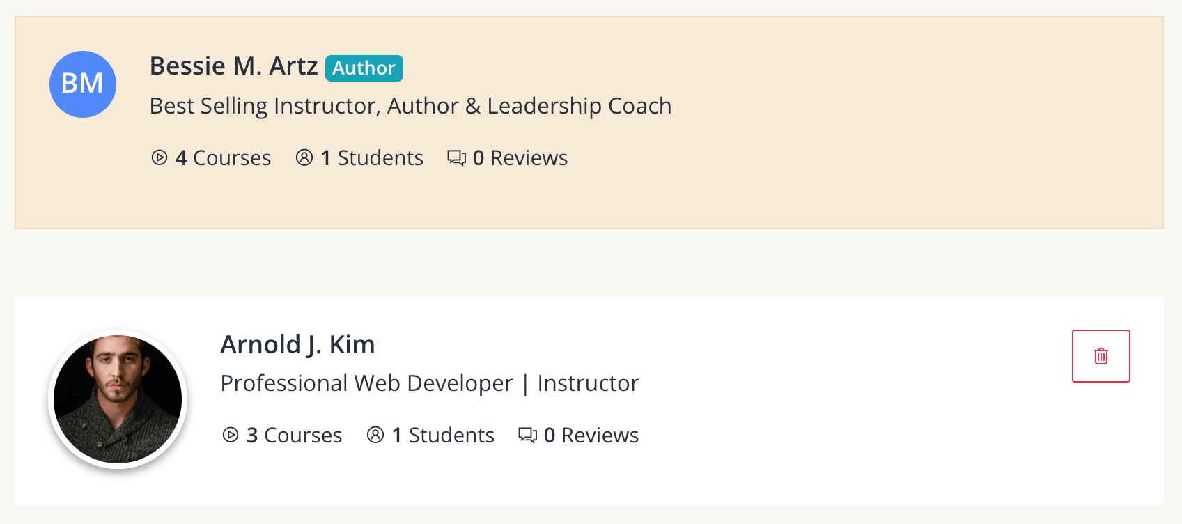 Added instructors - teachify lms